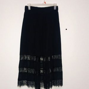 H&M Black Lace Maxi Skirt